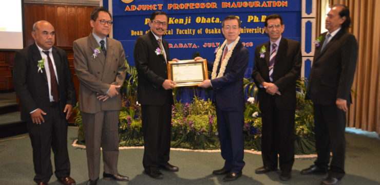 Ilmu Bedah Saraf Fakultas Kedokteran Unair Beri Gelar Kehormatan pada Dekan Medical Faculty of Osaka City University